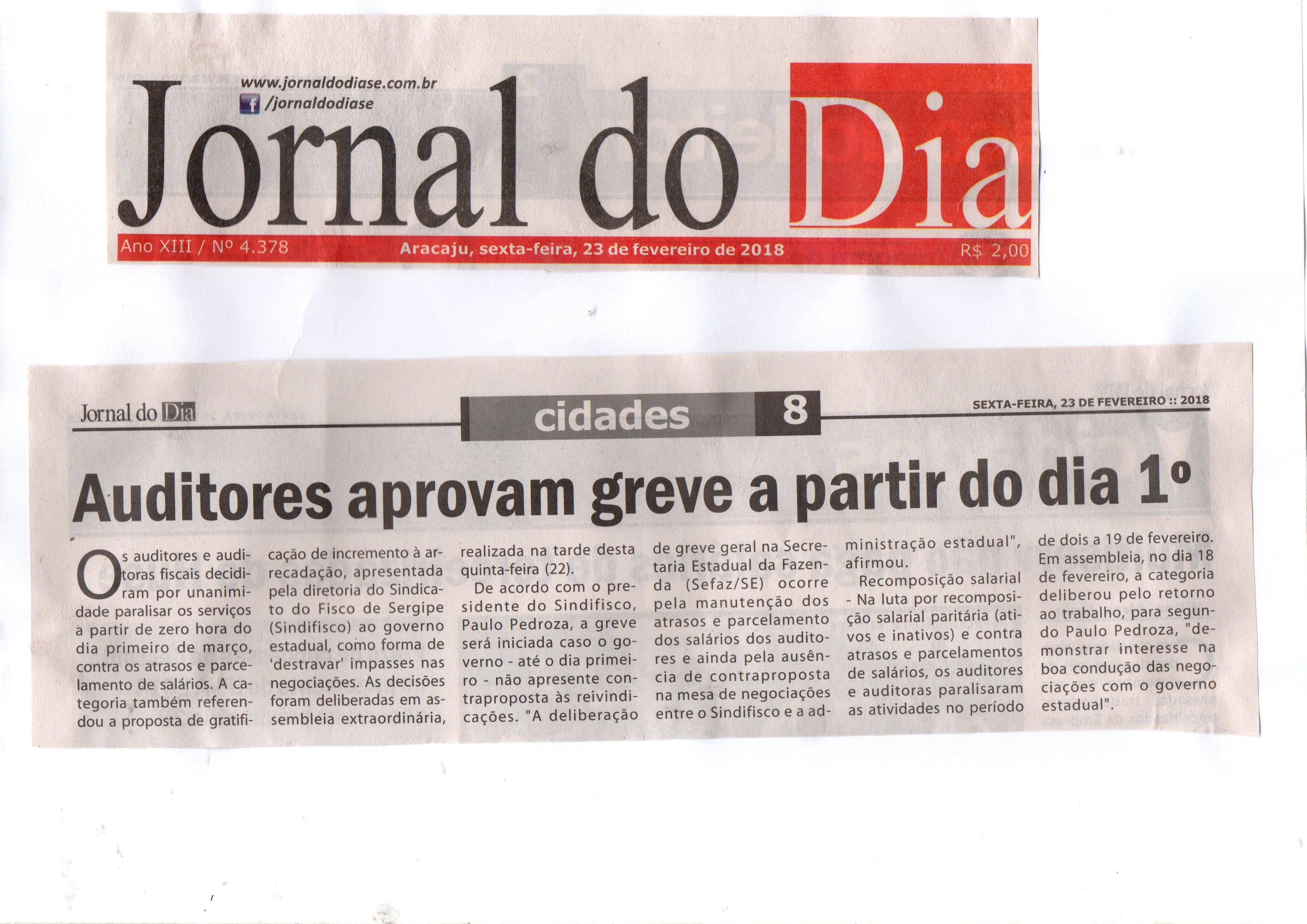 23022018 JornalDia AuditoresAprovamGreveApartir Do Dia1 03 A